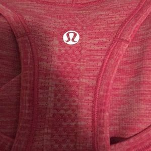 lululemon athletica Tops - Lululemon pink run swiftly tank top sz 4 59051